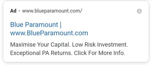 Blue Paramount ad
